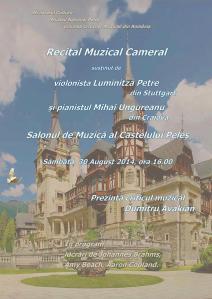 Recital-Muzical-Cameral-sustinut-de-violonista-Luminita-Petre-din-Stuttgart-si-pianistul-Mihai-Ungureanu-din-Craiova-in-Sala-de-Concerte-a-Castelului-Peles